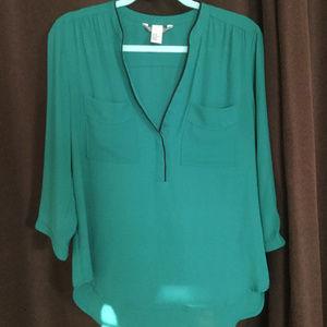 Emerald Green Blouse